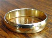 CLASSIC PLAIN 4mm WEDDING RING BAND SOLID 14K GOLD 2.6g SIZE 6.5